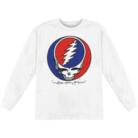 Grateful Dead Men's  Steal Your Face  Long Sleeve White