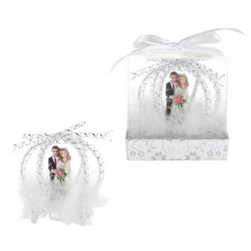 Wedding Couple in Frame Carriage Poly Resin in Gift Box