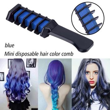 Single Temporary Hair Dye Chalk Comb Professional Crayons for Hair Choice of colors