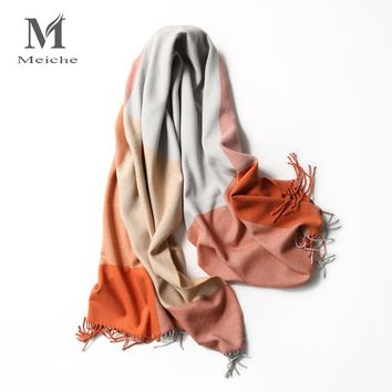 MEICHE Acrylic Scarf for Women Bandana 2017 Brand Plaid Warm Coat winter Spring Long Women Scarf Shawls Female Women scarf