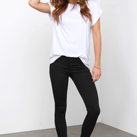 Ninja at Nightfall Black Ankle Skinny Jeans