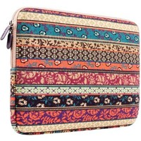 Laptop Sleeve, PLEMO Bohemian Style Canvas Fabric 15-15.6 Inch Laptop / Notebook Computer / MacBook / MacBook Pro Sleeve Case Bag Cover