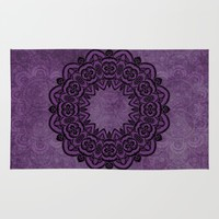 Circle in Purple Rug by Lena Photo Art