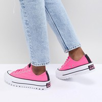 Converse Lift Ripple Trainers In Pink at asos.com