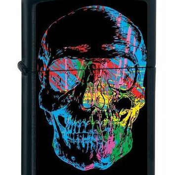 Zippo 28042 X-Ray Skull Black Matte Lighter