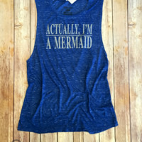 Mermaid, Relaxed Muscle Tank