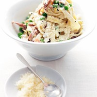 Pasta with Prosciutto and Peas