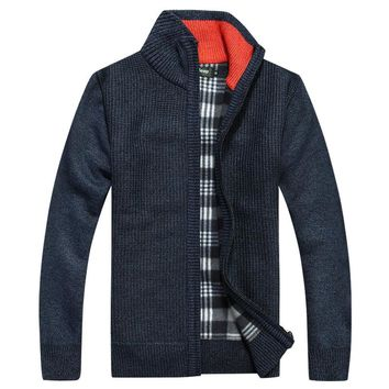 Men's Sweaters Solid Knitted jacket casual over