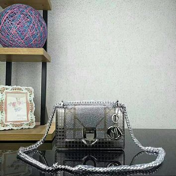 Dior Marmont Women Shopping Leather Metal Chain Crossbody Satchel Shoulder