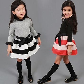 Girls Long-sleeve Dresses Kids Clothing For Holiday Party Wear T 4e5bc4505
