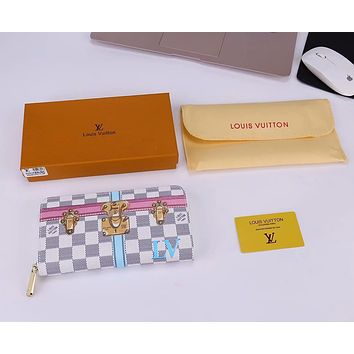 LV Louis Vuitton 2018 new limited edition classic long zipper wallet F-WMXB-PFSH #4