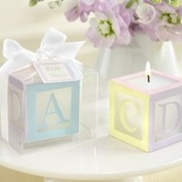 B is for Baby' Lettered Baby Block Candle (Set of 4) - 6 Sets