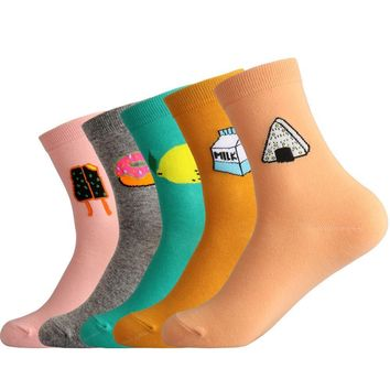 Sushi, Milk, Lemon, Donut, Popsicle - Socks Funny Crazy Cool Novelty Cute Fun Funky Colorful