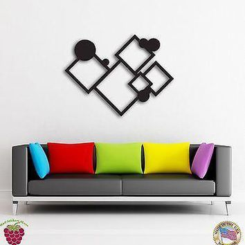 Wall Sticker Abstract Modern Geometrical Decor For Your Cool Place Unique Gift z1457