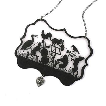 Menagerie Orchestra Silhouette Necklace by mamaslittlebabies