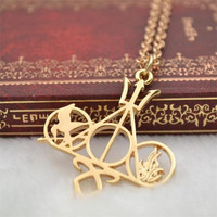 Vintage Harry Potter Inspired Deathly Hallows Necklace
