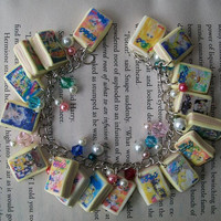 Sailor Moon manga charm bracelet by SparksEmporium on Etsy