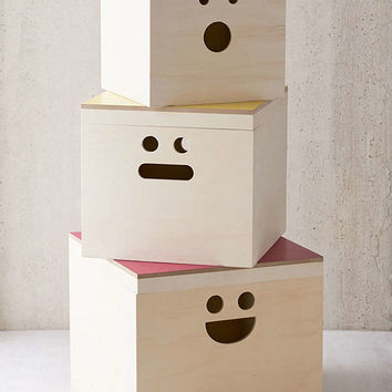 Happy Face Nesting Storage Box Set | Urban Outfitters
