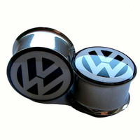 "VW Plugs - 1 Pair - Sizes 2g, 0g, 00g, 7/16"", 1/2"", 9/16"", 5/8"", 3/4"", 7/8"" & 1"""