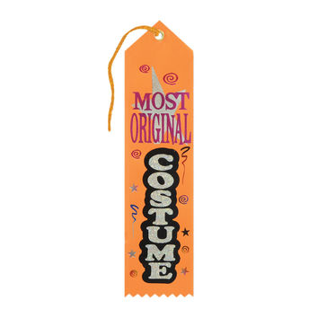 "Beistle Halloween Celebration Birthday Party Most Original Costume Award Ribbon 2"""" x 8"""" Pack of 6"