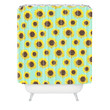 Allyson Johnson Sunflower Pattern Shower Curtain