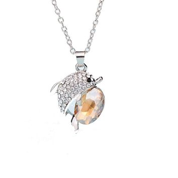Beautiful Dolphin Rhinestone Crystal Pendants For Women