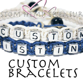 Make Your Own Couples Bracelets set of 2 MADE TO ORDER-2 Week production time