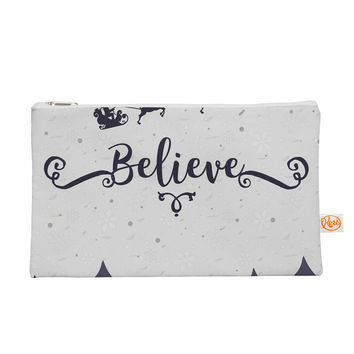 "Famenxt ""Christmas Believe"" Gray Lavender Illustration Everything Bag"