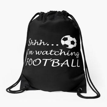 'Football fan ' Drawstring Bag by ValentinaHramov