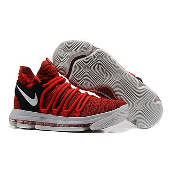 2017 Nike Mens Kevin Durant Kd 10 Red/black Basketball Shoes - Beauty Ticks