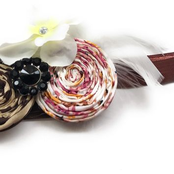 1920's Vintage Cinnamon Roll Headband