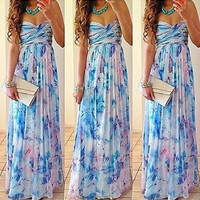 Print Ball Gown Wrap Prom Dress = 4806640068