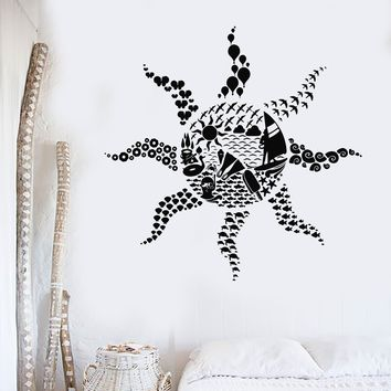 Vinyl Decal Sun Beach Style Ocean Diver Sea Bedroom Decor Wall Stickers Unique Gift (ig2944)