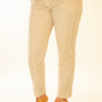 All Eyes On Me Pants: Cream