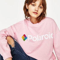 POLAROID SWEATSHIRT - NEW IN-TRF | ZARA United States