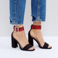 RAID Rorey Block Heeled Sandals at asos.com