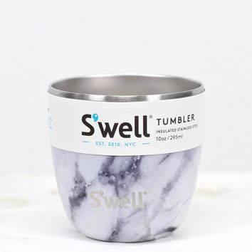 S'well Bottle: White Marble Tumbler {10 oz}