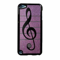 Purple Glitter Musical Note Case iPhone Case iPod Touch 5th Generation Case