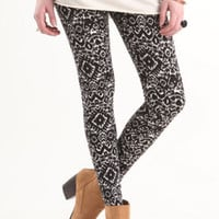 Kirra Black White Tribal Leggings at PacSun.com
