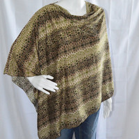 Tribal Poncho/ Nursing Cover/ Lightweight Shawl/ Off the Shoulder, One Shoulder Edgy Boho Top/ New Mom Gift