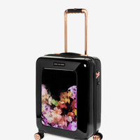 Small cascading floral suitcase - Black | Bags | Ted Baker ROW