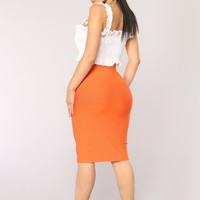 Wild One Bandage Skirt - Red Orange