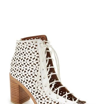 "Women's Jeffrey Campbell 'Cors' Cut Out Leather Boot, 3 1/4"" heel"