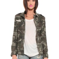 Camo Studded Jacket - Clothes | GYPSY WARRIOR