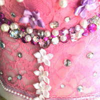Pink rave corset