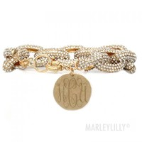 Monogrammed Chain Bracelet | Marley Lilly