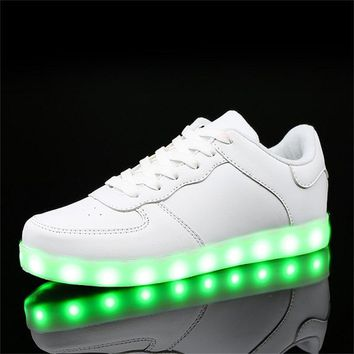2017 children girls Led Luminous sneakers kids sports Glowing Shoes for boy USB Charging flashing Lights up chaussure lumineuse