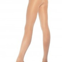 Lycra Opaque Sexy Tights Hosiery Leg Wear With Extra Crotch Panel