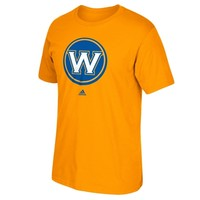 Golden State Warriors adidas Primary Logo T-Shirt – Gold
