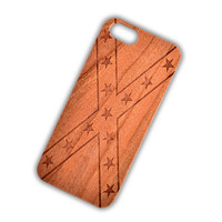 Cherry Wood Confederate Flag